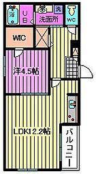 埼玉県さいたま市大宮区三橋4丁目の賃貸アパートの間取り