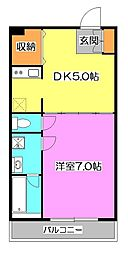 東京都西東京市保谷町6丁目の賃貸アパートの間取り