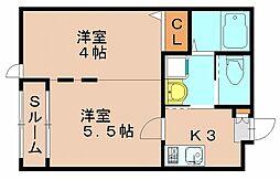 IBK千代[1階]の間取り