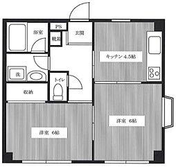 神奈川県横浜市泉区上飯田町の賃貸マンションの間取り