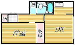 ドルチェ豪徳寺[3階]の間取り