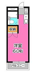 パラシオン富士見[1階]の間取り