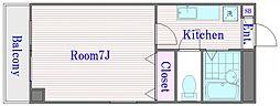 サンライトフルシマII[2階]の間取り