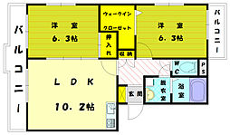 ケヤキハウス A[1階]の間取り