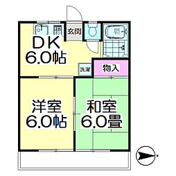 第三ハイツ石塚[2階]の間取り
