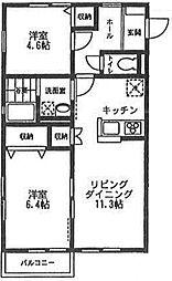 オーチャード・アパートメント C[101号室号室]の間取り