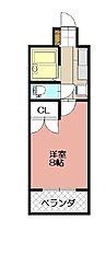 KMマンション八幡駅前III[616号室]の間取り
