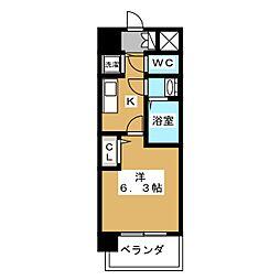 プレサンス京都五条天使突抜[4階]の間取り