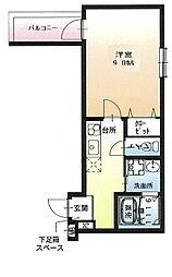 フジパレス尼崎ガーデン 3階1Kの間取り