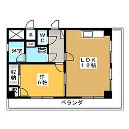 メゾンドベル1[1階]の間取り