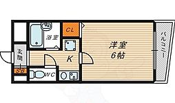 Osaka Metro長堀鶴見緑地線 今福鶴見駅 徒歩4分の賃貸マンション 11階1Kの間取り