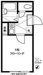 東京都杉並区方南2の賃貸アパートの間取り