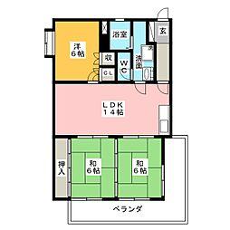 ラ・メゾン島田[1階]の間取り