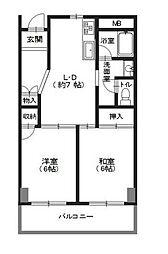 カワブマンション[3階]の間取り