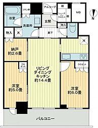 大阪ひびきの街 ザ・サンクタスタワー[9階]の間取り