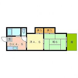 OMマンション寝屋川[1階]の間取り
