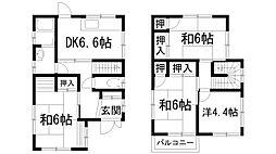 [一戸建] 兵庫県川西市東畦野4丁目 の賃貸【/】の間取り
