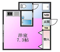 東京都江戸川区南葛西2丁目の賃貸マンションの間取り