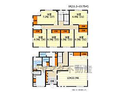 大阪モノレール彩都線 豊川駅 徒歩15分の賃貸アパート 3階ワンルームの間取り