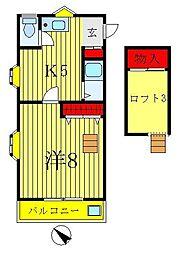 ブレーンコート上本郷[3階]の間取り