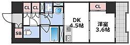 エル・セレーノ大阪天神橋 4階1DKの間取り
