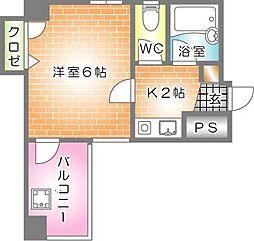 第2片山ビル--[701号室]の間取り