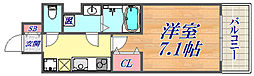 ファーストフィオーレ三宮EAST 4階1Kの間取り