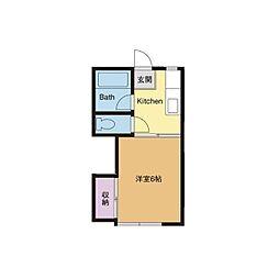 サンハイツ東海 A棟[1階]の間取り