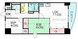 ハウスオブロゼ[4階]の間取り