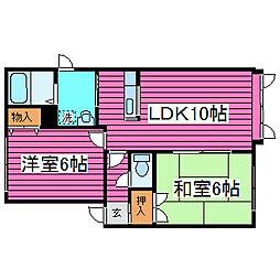 北海道札幌市東区北四十四条東10丁目の賃貸アパートの間取り