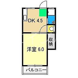 第三斉藤ハイツ[2階]の間取り