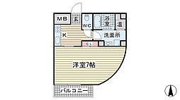 カーサ岡本[2階]の間取り