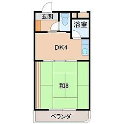 ウイング花山[3階]の間取り