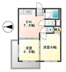 明治第2ビル[1階]の間取り