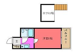 メゾン寺田[205号室]の間取り
