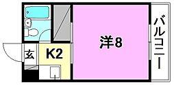 こうだ第3ハイツ[302 号室号室]の間取り