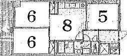 ハイムフロイデン一乗寺[A-8(1F)号室号室]の間取り