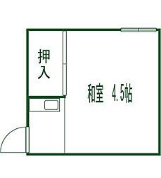若松荘[2号室]の間取り