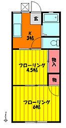 ハイツ斎藤[102号室]の間取り