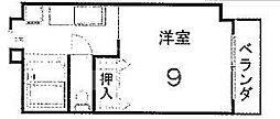 サンハイム橋本[201号室号室]の間取り