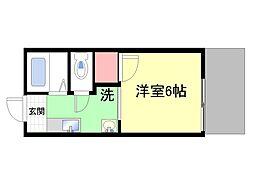 兵庫県神戸市灘区篠原南町7丁目の賃貸アパートの間取り