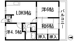 兵庫県宝塚市安倉中1丁目の賃貸アパートの間取り
