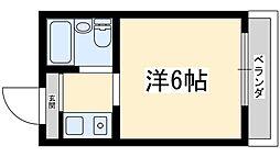 Osaka Metro御堂筋線 西中島南方駅 徒歩17分の賃貸マンション 3階ワンルームの間取り