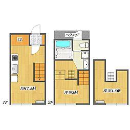 Calico-House 1[112号室]の間取り