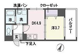 アディーレ西新[10階]の間取り