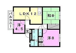 ウィンディア福音寺[201 号室号室]の間取り