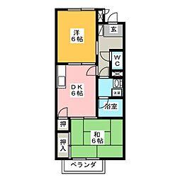 Surplus塚本 B[1階]の間取り