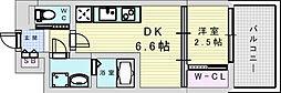 セレニテ三国プリエ 9階1DKの間取り