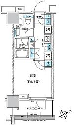 JR総武本線 馬喰町駅 徒歩8分の賃貸マンション 4階1Kの間取り