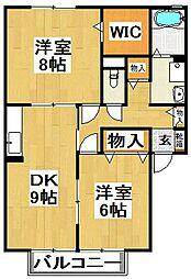 ガーデンハウス明正[1階]の間取り
